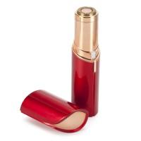 Gesichtshaarentferner elektrischer schmerzloser Rasierer Batterie Rot