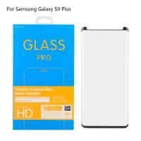 Panzerglas Schutzfolie Abdeckung 3D 9H f. Galaxy S9 plus schwarz