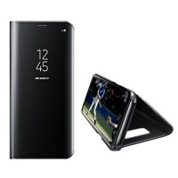 Spiegelhülle Schutzhülle Flipcase Abdeckung Samsung S9 Plus schwarz