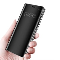 Spiegelhülle Schutzhülle Abdeckung Cover f. Huawei P20 Pro schwarz