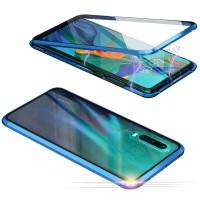 Huawei P30 Hülle Transparent Gehärtetes Glas Schutzhülle Case Cover