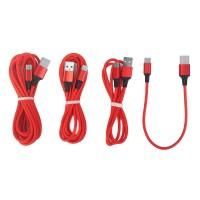 Ladegerät Kabel mit Micro USB Typ C Ladekabel 4pcs 0.25m 1m 2m 3m