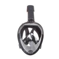 Tauchmaske Vollgesichtsmaske Schnorchelmaske Gr. S/M 180 Grad schwarz