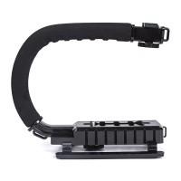 Halterung Stabilisator Niedrigenwinkelschießen mit  Zubehörschuh Halter Grip für Canon Nikon Sony DSLR Kamera Camcorder