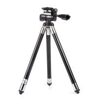 Kamerastativ Fotostativ Aluminium Dreibein Höhe 28-106 cm Schwarz