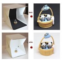 Lichtzelt Fotozelt Studio Licht Box mit 2 USB Lichtstreifen 30x30cm