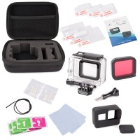 25in1 Zubehör Kit mit Shockproof Small Case Bundle für GoPro Hero 6 5