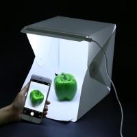 Fotostudio Schiesszelt Lichtbox LED Beleuchtung 6 Hintergründe 20cm