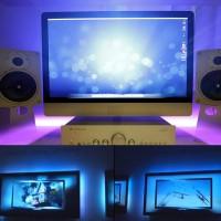 USB Strip Streifen LED TV Beleuchtung RGB mit TR Fernbedienung Set 2M