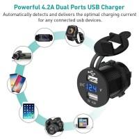 USB Auto Zigarettenanzünder Adapter Steckdose Ladegerät Wasserdicht