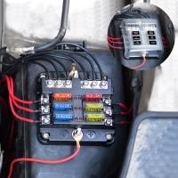 Sicherungshalter Sicherungsblock Sicherungskasten 6 Fach für Auto