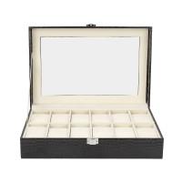 Uhrenbox Schweiz für 12 Uhren mit Glasdeckel