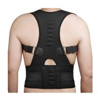 Rückenbandage Geradehalter zur Haltungskorrektur Schwarz, Gr. L Geradehalter Stabilisator Rückenhalter Erwachsen Magnetismus