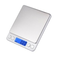 Digitalwaage, Küchenwaage 500*0.01g Feinwaage  mit LCD-Anzeige, PCS Funktion, TARE-Funktion, mit 2x AAA Batterie
