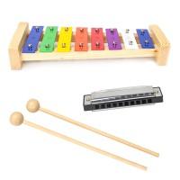 Xylophon 8 metallschlüssel, Musikinstrumente10 loch, für Kinder