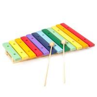 Hölzernes Xylophon 12 farbige Klangplatten Glockenspiel-Set für Kinder