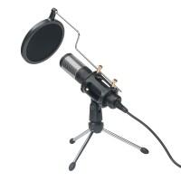 USB Mikrofon Kondensatormikrofon, microphone schwarz