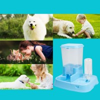 Futter und Wasserspender Haustier Hund Katze Doppelte Schüssel
