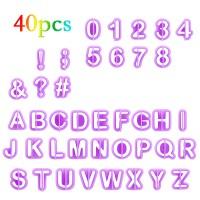 Buchstaben Ausstecher Set 40 Zahlen Satzzeichen, Torten Dekorieren