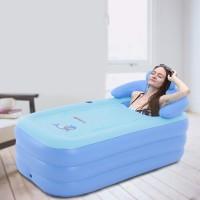 Aufblasbare Badewanne Relax Pool faltbar Bathtub Nackenkissen, Pumpe