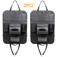 2 Stück Auto Rückenlehnenschutz Rückenlehnen Tasche Rücksitzschoner