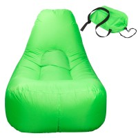 Wasserdichtes aufblasbares Sofa Luft sofa 180x90cm Sitzsack Couch grün