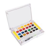 Aquarellfarben nicht-toxische Wasserfarben Set Hochwertig 24 Farben