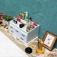 Kosmetik Aufbewahrung Organizer Make up 37*23*18 cm aus Holz weiß