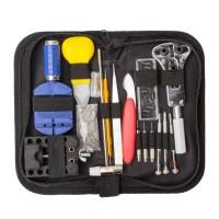 147tlg Uhrmacherwerkzeug Uhr Werkzeug Tasche Reparatur Set Uhrwerkzeug