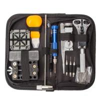 130tlg Uhrmacherwerkzeug Uhr Werkzeug Tasche Reparatur Set Uhrwerkzeug
