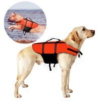 Hundeschwimmweste Schwimmtraining Rettungsweste für Hunde Orange Gr. L