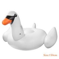 Schwimmtier Schwan Schwebebett Sofa mit Schnell Ventilen 150cm PVC