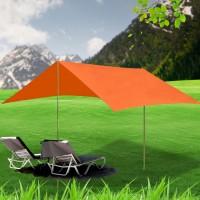 Sonnensegel Strandschirm Sonnenschutz Strandzelt Rechteck 3x4m Orange