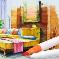 Buntstifte Pinselstift Aquarellstifte Set 24 Farben Stifte Brush Pen