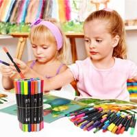 Pinselstift Set Aquarellstifte Wasserfarben Buntstifte Stifte 60Farben