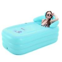 Bathtub Nackenkissen Relax Pool mit Luftpumpe Erwachsene hellblau