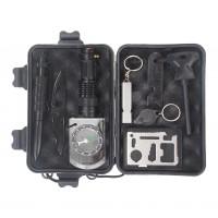 Survival Kit Notfall Selbsthilfe Überleben 10in1 Werkzeuge Box