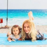 Stranddecke Picknickdecke Sand Frei Tuch Matte Wasserdicht 210 x 200cm