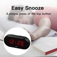 Alarm Clock LED Digitaluhr Tischuhr Wecker mit Nachtlicht Schwarz