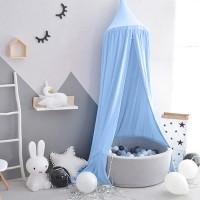 Betthimmel Moskitonetz Baldachin Mückennetz Baumwolle für Kinder Baby