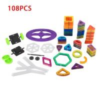 Magnetisch Bauklötze Bausteine Blöcke Pädagogisch Spielzeug 108er Set
