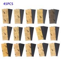 Nassgitter Schleifpapier Sandpapier Trocken Nass Blätter Set 45pcs