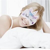 Schlafmaske Schlafbrille Augenbinde 2 Stück Einhorn Augenklappe