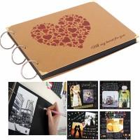 DIY Scrapbook Fotobuch Fotoalbum Retro Foto Album f. Geburtstag