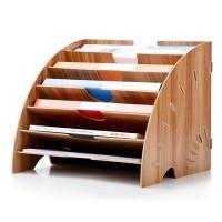 A4 Briefablage Ablagekorb Papierablage Ablagefächer für Büro aus Holz