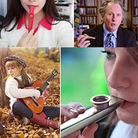 Kazoo Musikinstrumente Multipack Flötenblende für Kinder Party 6er Set