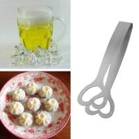 Zuckerzange Servierzange Grillzange Eiszange 3er für Zucker Salat Brot