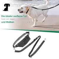 Hundeleine Joggingleine Reflektierend Laufleine f. Hunde mit Bauchgurt