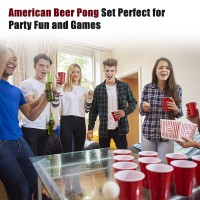 Beer Pong Becher Partybecher Bier Pong 24er Set mit 24 Bällen