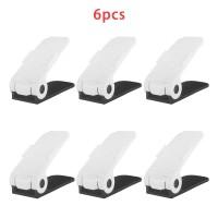 6 Stück Schuh Slots Schuhregale Schuhstapler Schuhhalter Set